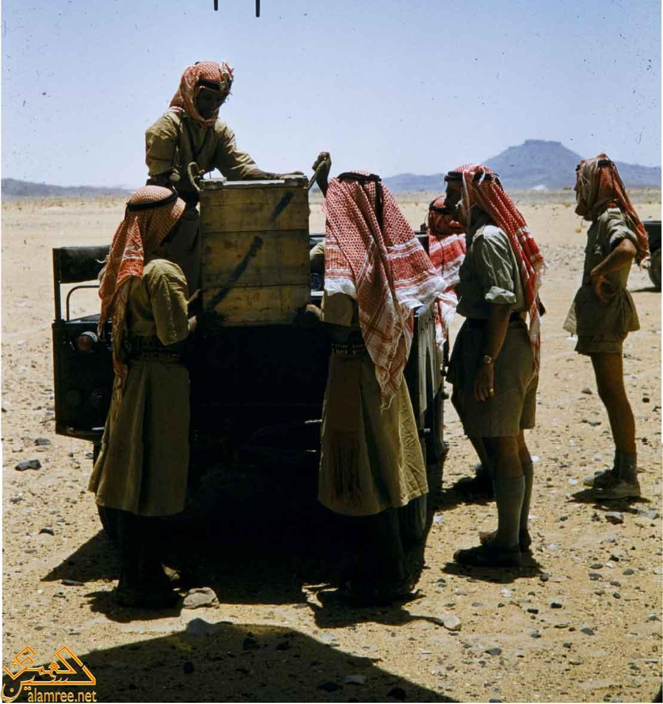 جنود من جيش البادية الحضرمي أثناء